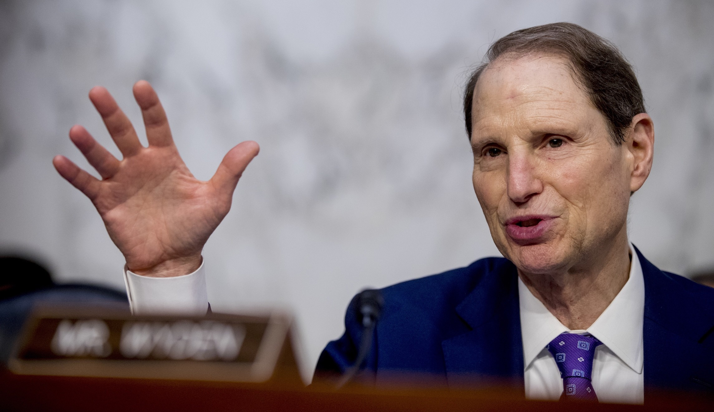 photo of US Senator Ron Wyden testifying