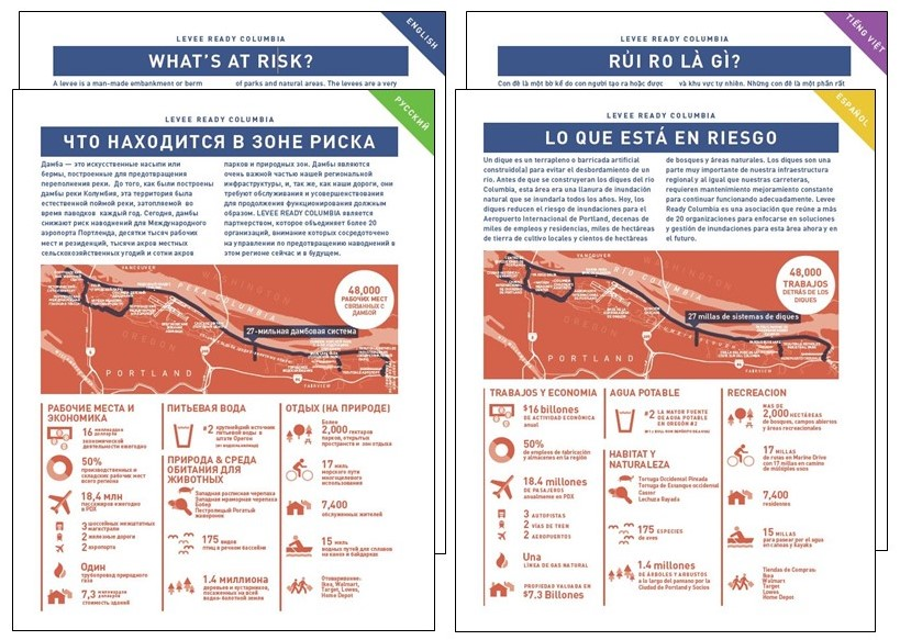 What's At Risk Handout in Four Languages