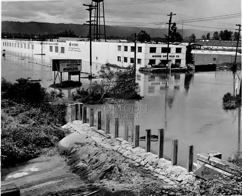 Flooding during the 1956 flood