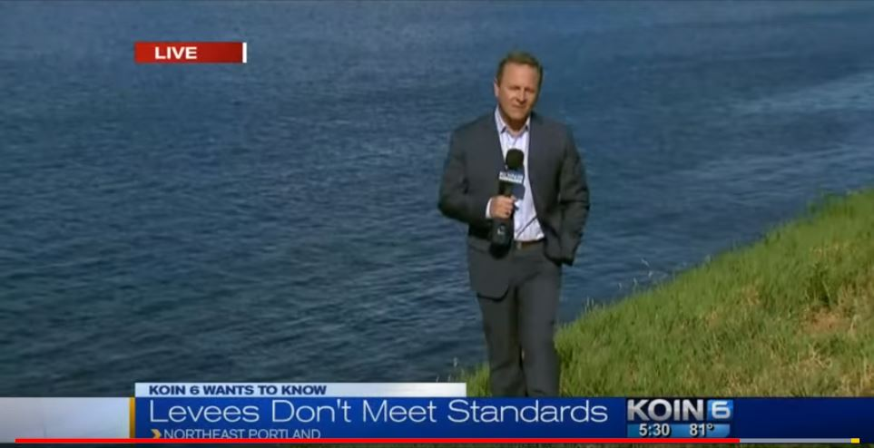 Screenshot of KOIN 6 News Coverage of Levee System in 2015
