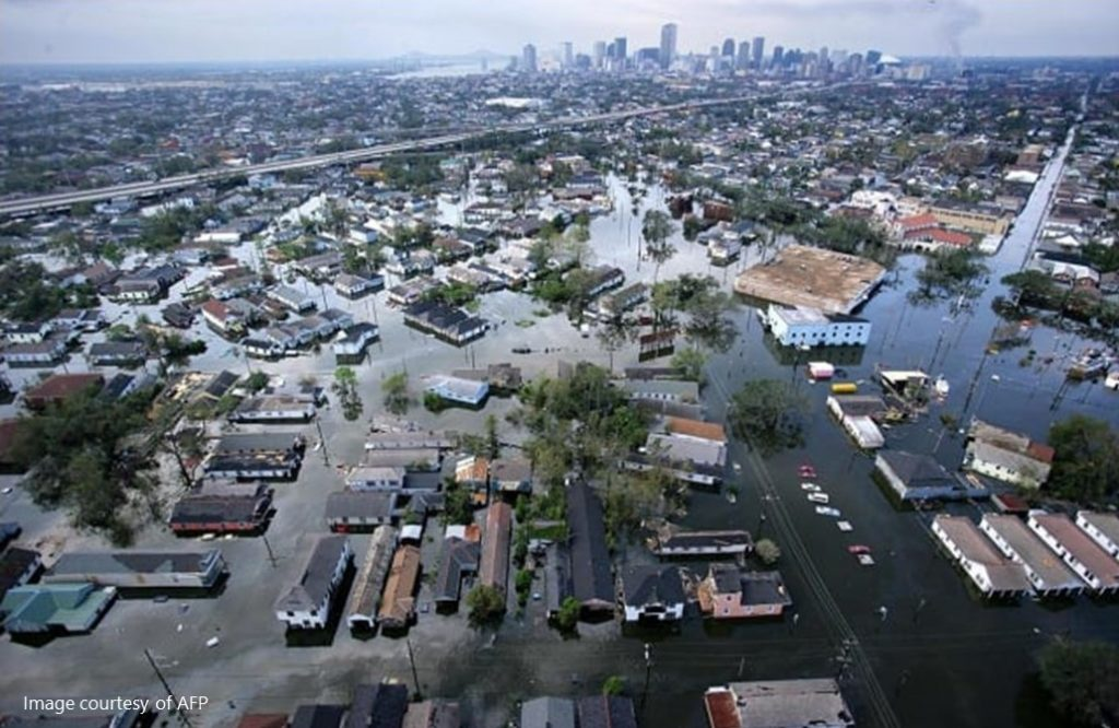Photo of floodwaters after Hurricane Katrina in 2005.