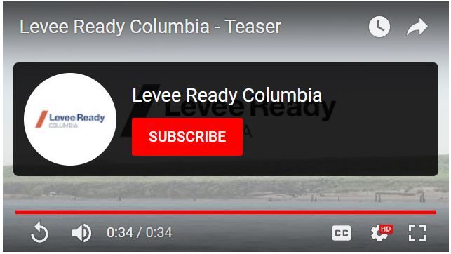 Screenshot of a Levee Ready Columbia video on YouTube