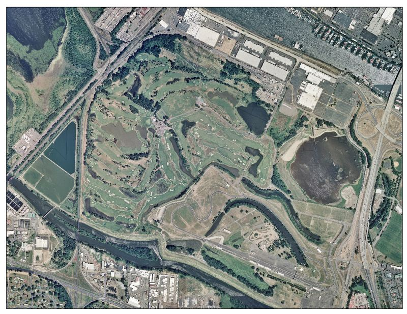 Aerial photo of Peninsula Drainage District #1