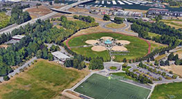 Aerial photo of Delta Park