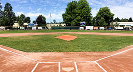 Picture of baseball diamond at Wilshire Little League park