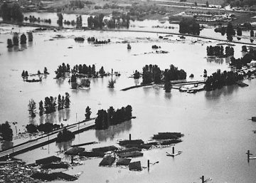 Photo of Vanport after the flood