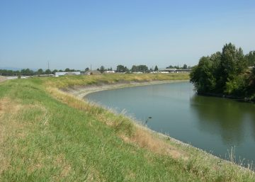 Columbia Slough levee