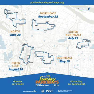 2019 Sunday Parkways Routes