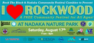 I Heart Rockwood Festival event flyer with sponsors listed